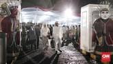 Acara nikah massal pada malam pergantian tahun diharapkan menjadi momen berkesan bagi para pasangan karena diperingati oleh semua orang di seluruh dunia.(CNN Indonesia/Andry Novelino)