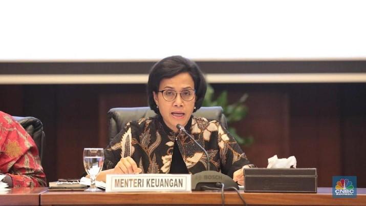 Menteri Keuangan Sri Mulyani Memimpin Konferensi pers kinerja APBN 2018 di Kementerian Keuangan (CNBC Indonesia/Muhammad Sabki)