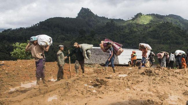 BNPB: Sukabumi Alami 132 Longsor dalam 10 Tahun Terakhir