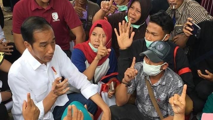 Janji Jokowi: Bangun Rumah Buat Pengungsi Tsunami Selat Sunda