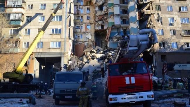 Menurut komite penyelidikan, hingga saat ini belum ditemukan material peledak di lokasi kejadian. (Russia's Ministry for Civil Defence, Emergencies and Elimination of Consequences of Natural Disasters/Handout via Reuters)