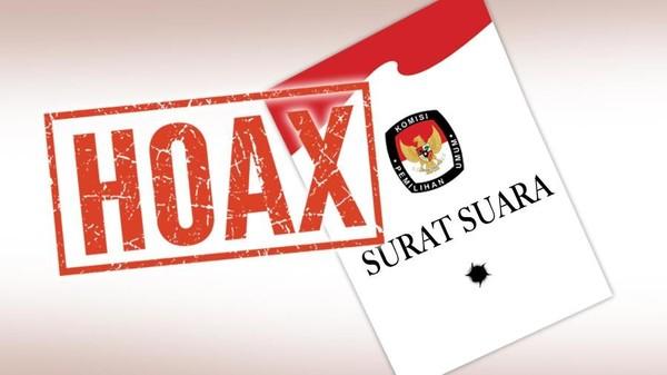 Hoax Surat Suara Tercoblos