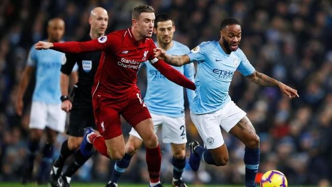 Manchester City menjamu Liverpool dalam lanjutan Liga Primer Inggris 2018/2019 di Stadion Etihad, Manchester, Jumat (4/1) dini hari WIB. (Action Images via Reuters/Jason Cairnduff)