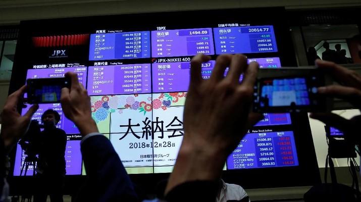 Aura Positif di Akhir Pekan, Bursa Saham Tokyo Menguat
