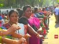 VIDEO: Protes soal Perempuan Masuk Kuil Meluas di India