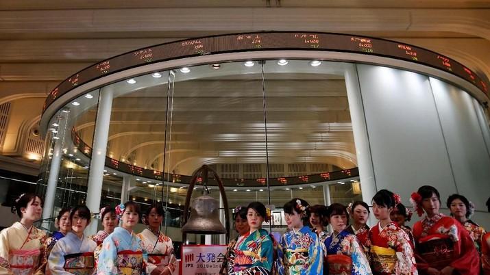 Rilis Data China Dorong Bursa Tokyo Naik
