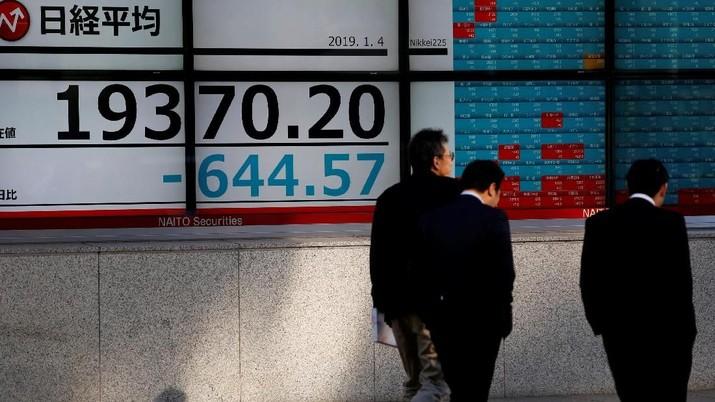 Bursa saham Jepang melemah saat dibuka, Kamis (30/5/2019), menyusul hasil negatif yang dicatatkan Wall Street dini hari tadi.