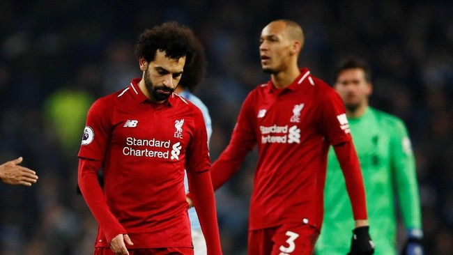 Usai melewati 20 laga tanpa kalah di Liga Inggris, Liverpool harus kehilangan poin ketika menyambangi Manchester City. (Action Images via Reuters/Jason Cairnduff)