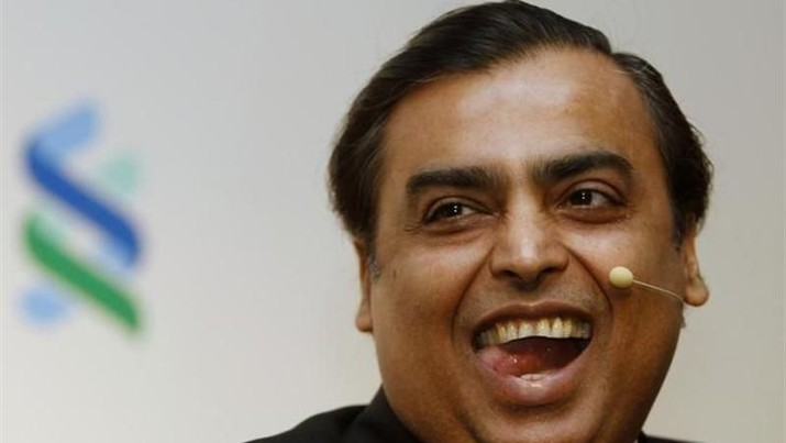 Mukesh Ambani, Chairman and Managing Director of Reliance Industries, reacts during the 2011 spring membership meeting organised by the Institute of International Finance (IIF) in New Delhi March 4, 2011. REUTERS/B Mathur/Files