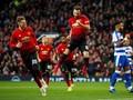Man United Unggul 2-0 atas Reading di Babak Pertama
