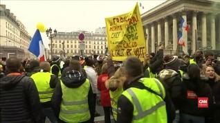 VIDEO: Unjuk Rasa Rompi Kuning Berakhir Rusuh