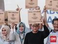 20 Ribu 'Goodybag' Prabowo-Sandi Disebar ke Pasar Tradisional