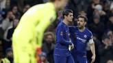 Chelsea tampil gemilang di Stamford Bridge dengan mengalahkan Nottingham Forest berkat dua gol yang dilesakkan Alvaro Morata. (Reuters/Matthew Childs)