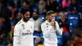 Skor 2-0 untuk Real Sociedad bertahan hingga akhir pertandingan. Real Madrid harus tumbang di hadapan suporter sendiri. (REUTERS/Juan Medina)