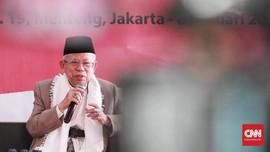 Ma'ruf Amin Sebut Ajakan Prabowo Lebaran di TPS Tak Tepat