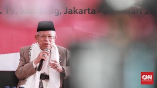 Ma'ruf Amin Dukung Saran JK Tolak Ahok Gabung Tim Jokowi