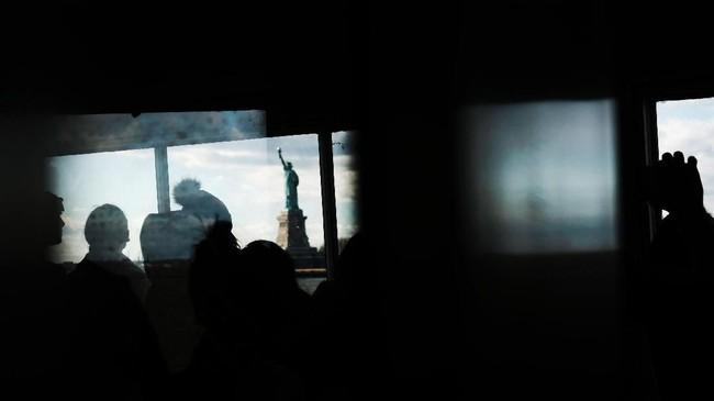 Akibat penutupan pemerintahan itu Amerika Serikat seolah terlihat lesu. (Mario Tama/Getty Images/AFP)