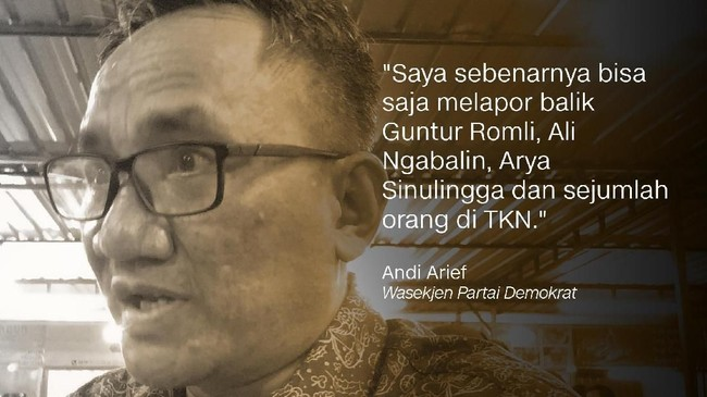 Andi Arief, Wasekjen Partai Demokrat.