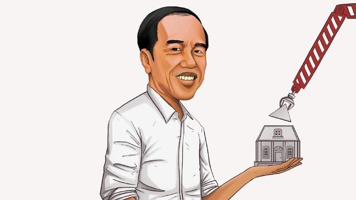 Infografis Program Rumah Jokowi Tembus Target
