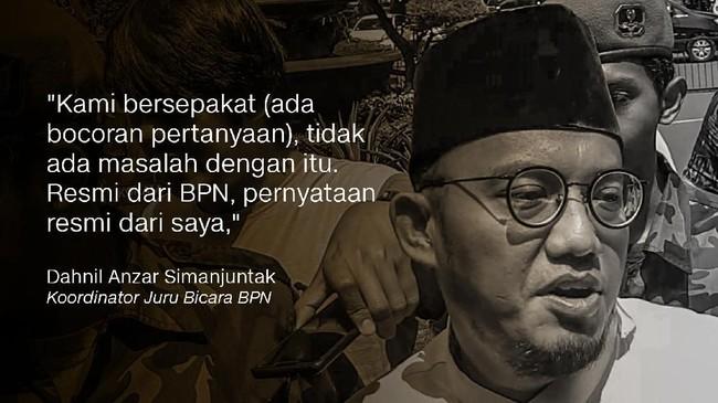 Koordinator Juru Bicara BPN Dahnil Anzar Simanjuntak.