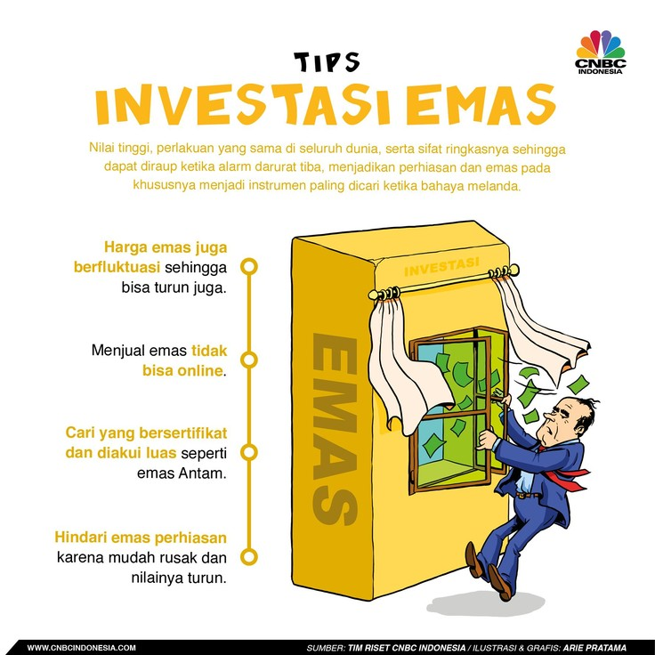 Selain saham dan obligasi, emas merupakan instrumen yang kerap dijadikan pilihan masyarakat.