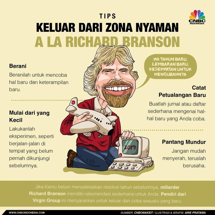 Intip Tips Richard Branson Biar Sukses di 2019