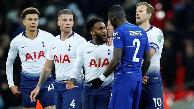 Dengan kemenangan 1-0 di leg pertama memberikan keuntungan bagi Tottenham untuk leg kedua yang akan digelar Kamis (24/1) di kandang Chelsea, Stadion Stamford Bridge. (REUTERS/Eddie Keogh)