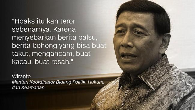 Wiranto, Menteri Koordinator Bidang Politik, Hukum, dan Keamanan.