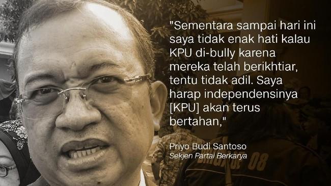 Sekjen Partai Berkarya Priyo Budi Santoso.
