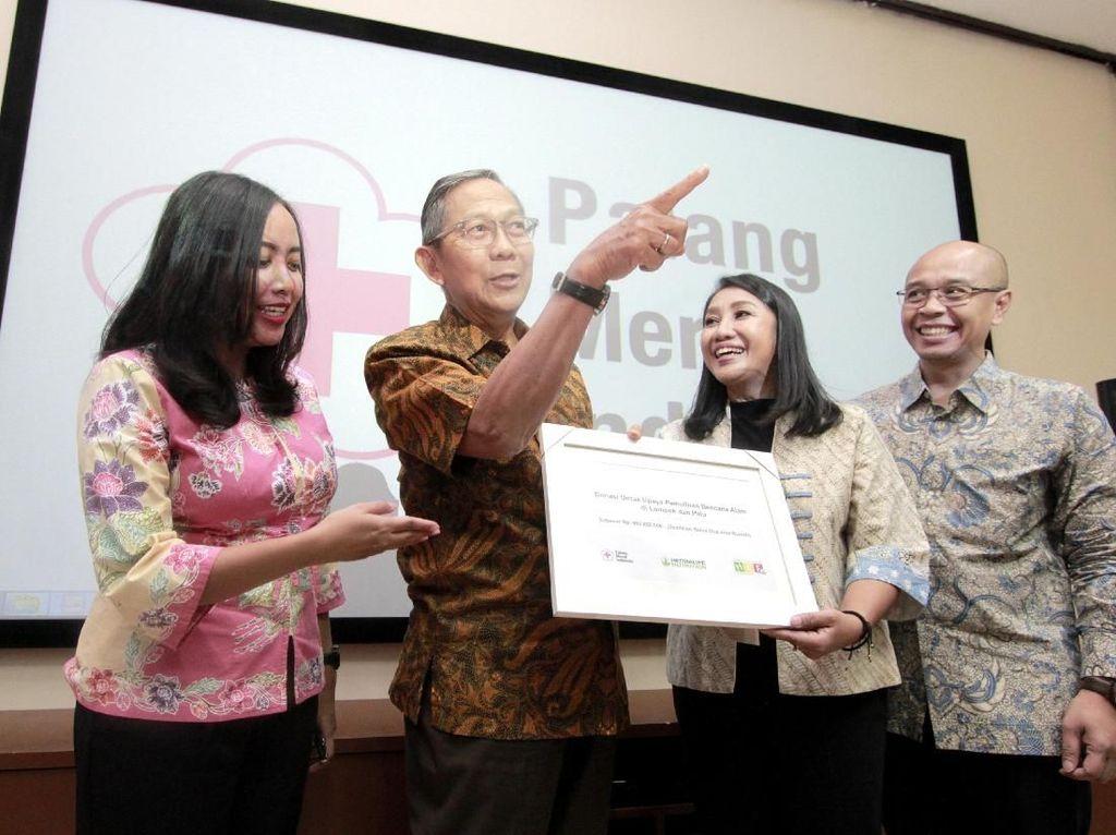 Bantuan tersebut diperuntukan bagi korban bencana alam di Lombok dan Palu. Istimewa.