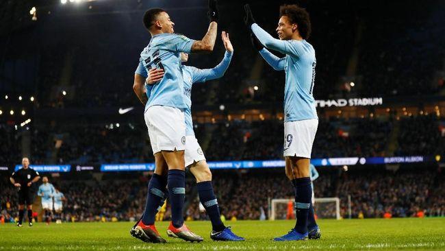 Jesus Empat Gol, Manchester City Menang 9-0 di Piala Liga