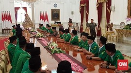 Gus Yaqut dan Pengurus Ansor Temui Jokowi di Istana
