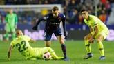 Gol Borja Mayoral menunjukkan kelemahan lini pertahanan Barcelona di laga ini. (REUTERS/Heino Kalis)