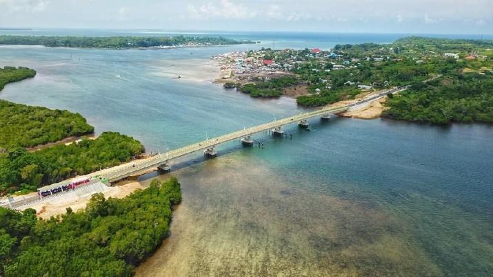 Inilah Jembatan Indah di Atas Laut Maluku Hasil Jualan Sukuk