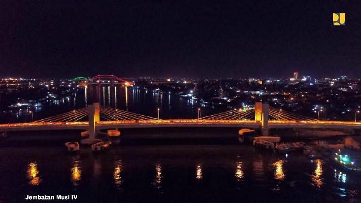 Dibangun Dengan Sukuk, Jembatan Musi IV Kini Bisa Dilalui