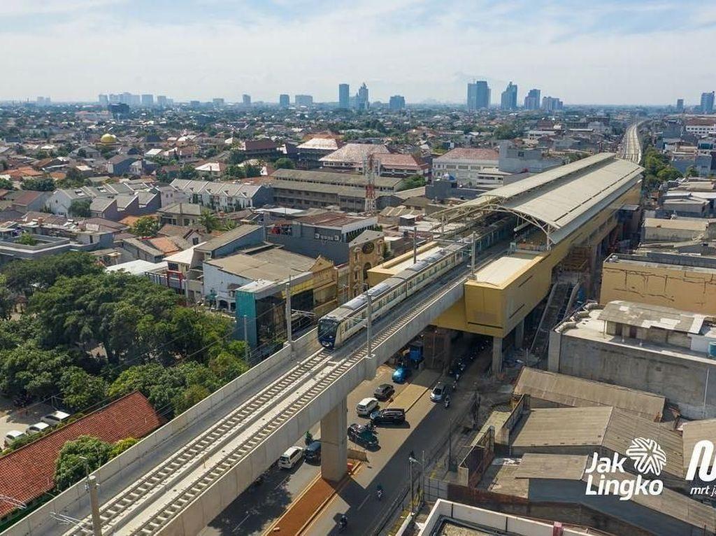 Ini adalah penampakan terkini dari udara Stasiun Haji Nawi MRT Jakarta. Foto: Dok. MRT Jakarta