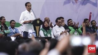 Saran Jokowi Pilih Pemimpin di Depan Ribuan Pengemudi Online