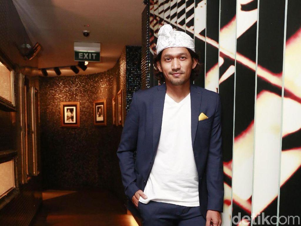 Diwawancara di acara tersebut, sang aktor bicara soal kecintaannya terhadap dunia lari. Foto: Ibnu Jamil (Ismail/detikHOT)