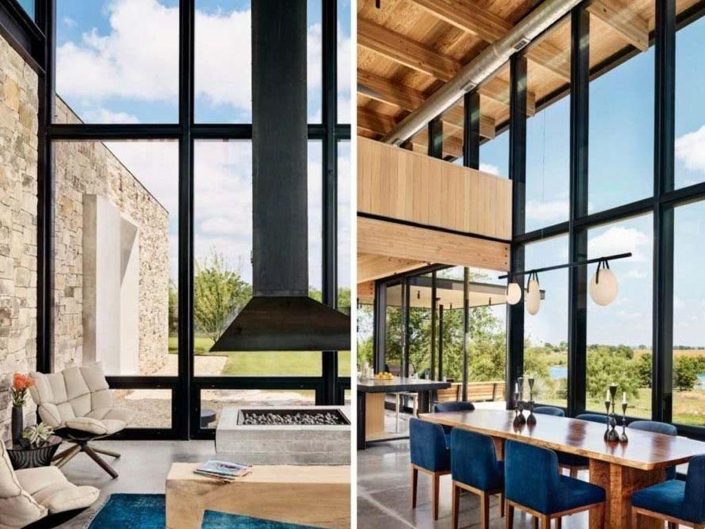 Jendela yang besar membuat penghuni bisa lebih mudah melihat keluar rumah dari berbagai sisi. Casey Dunn/Inhabitat.com.