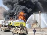 Akhir Pekan, Sebuah Kilang Minyak Utama Yaman Terbakar Hebat