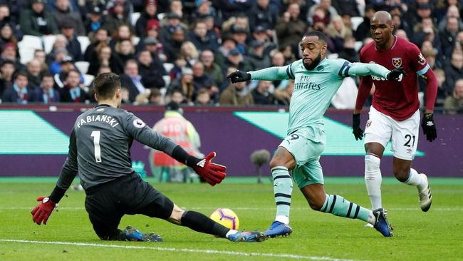 Babak Pertama: West Ham vs Arsenal Masih Imbang