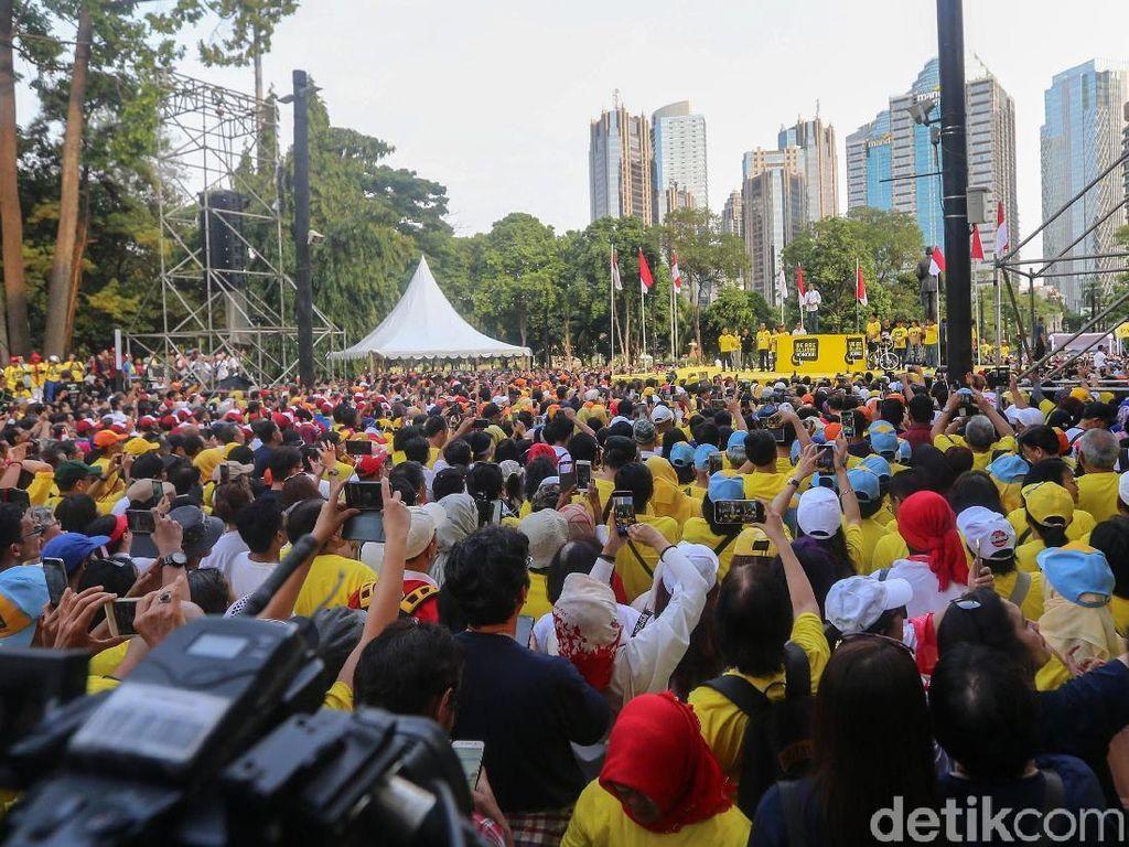 Begini suasana dukungan untuk Jokowi-Maruf Amin dari alumni dari sejumlah universitas.