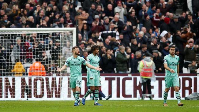 Arsenal Tumbang di Markas West Ham United