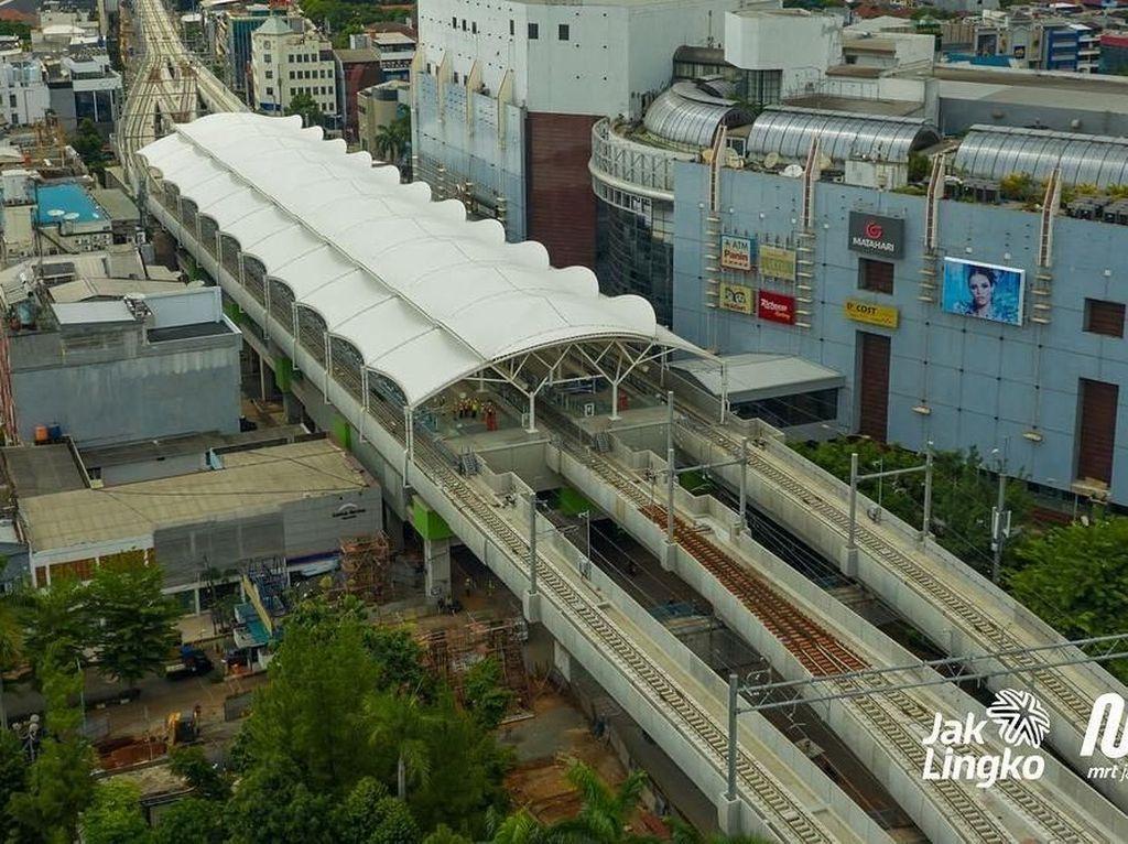 Ini adalah penampakan terkini stasiun Blok M MRT Jakarta diambil dari udara. Foto: Dok. MRT Jakarta