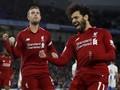 FOTO: Salah Cetak Gol, Liverpool Kembali Menang