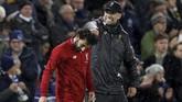 Juergen Klopp dan anak asuhnya meraih kemenangan ke-18 dalam Liga Inggris 2018/2019 dan memastikan The Reds mengantongi 57 poin atau unggul tujuh poin dari peringkat kedua Manchester City. (Action Images via Reuters/Paul Childs)
