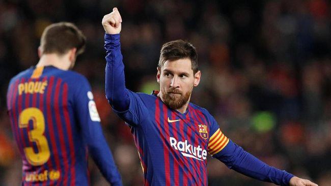Barca Kalahkan Eibar, Messi Cetak Gol Ke-400 di Liga Spanyol