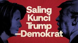 INFOGRAFIS: Saling Kunci Trump-Demokrat