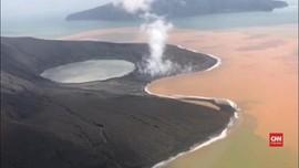 VIDEO: Pascaerupsi, Bentuk Anak Krakatau Mirip Tapal Kuda