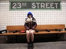 Ramai-ramai Warga New York Rayakan Hari Tanpa Celana